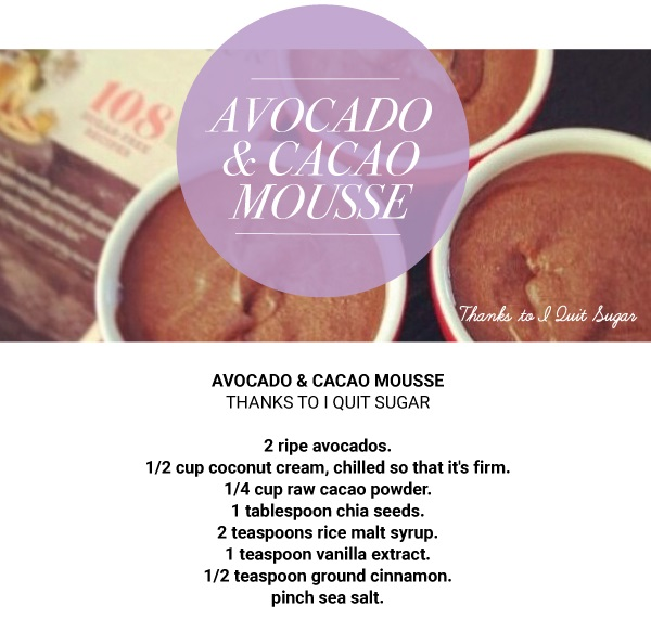 avocado and cacao mousse recipe
