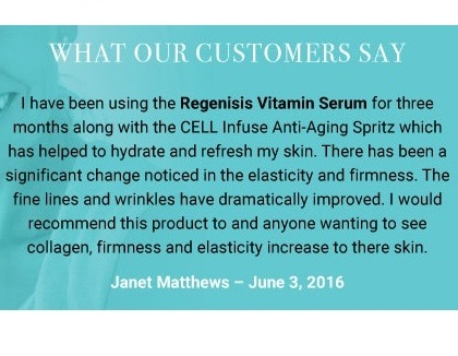 testimonial for Regenisis Vitamin Serum